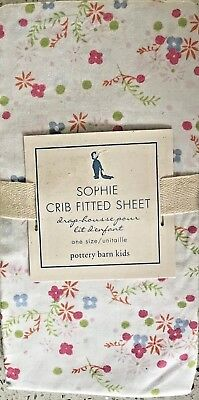 Pottery Barn Kids Sophie 100% cotton Percale fitted crib sheet