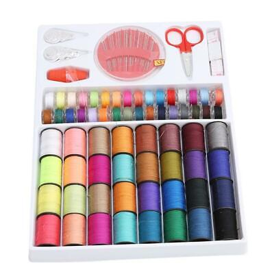 Travel Sewing Kit Measure Scissors Thimble Thread Needle Storage Box YD