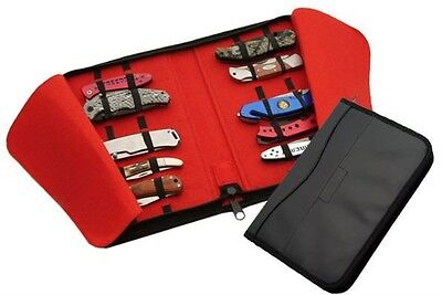 Black Leatherette Knife Case Holds 16 Knives 210781-15 F