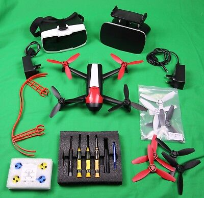 Parrot BEBOP 2 FPV Drone with Sky Controller 2 and Accessories Bundle