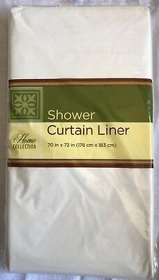 "White Standard Size 70"" X 72"" Waterproof Plastic Shower Curtain Magnetic Liner"