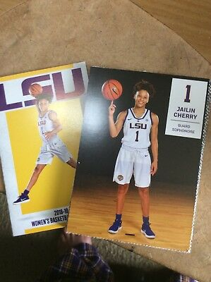 2018-19 LSU Lay Tigers Basketball Team Set W/Pocket Schedule