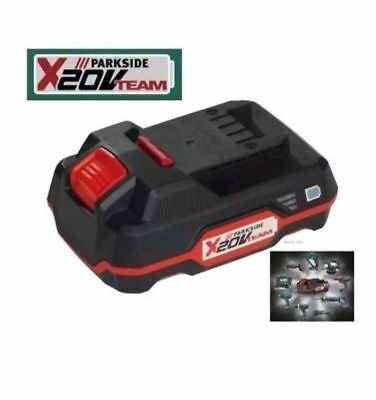 3x PARKSIDE 20v  2AH Cordless Battery PAP20 A1 Compatible With Tools X20v Series