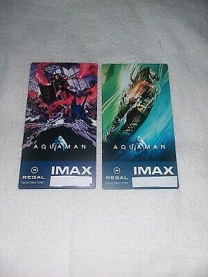 AQUAMAN Regal IMAX Collectible Ticket - Free Mini Poster Week 1 & 2 FREE Shippng