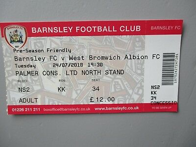 Barnsley v West Bromwich Albion 2018 PSF Used Ticket