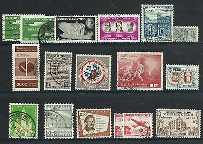 Group of CENTRAL & SOUTH AMERICA  Postage Stamps + Caribbean