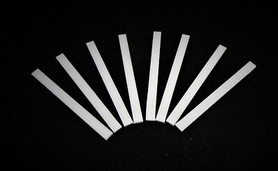 LOT OF EIGHT (8) PRECISE THIN RECTANGULAR ALUMINA CERAMIC SHIMS PLATE No.: 499