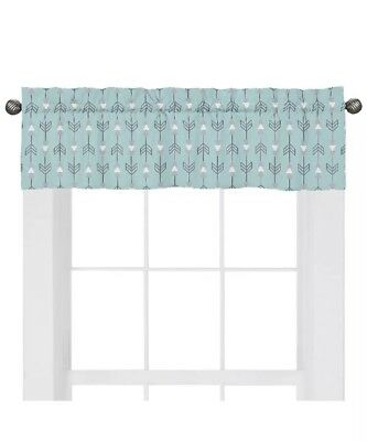 Sweet JoJo Designs Earth & Sky Arrow Valance Teal Tribal Window Treatment Mint