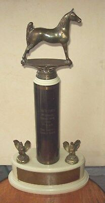VINTAGE 1950 HORSE TROPHY THE SUN TIMES 2nd ANNUAL HORSE SHOW