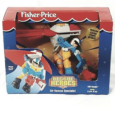Rescue Heroes Cliff Hanger Air Rescue Specialist Sealed 1997 Fisher Price