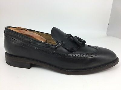 6b2358b475fa86 FRYE Men s Black Leather Tassel Wingtips Loafers  80460 10 D Made in Mexico
