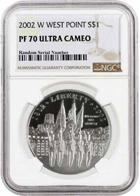 2002 W $1 West Point Bicentennial Commemorative Silver Dollar NGC PF70 UC