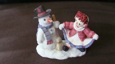 """Collectible Ceramic Raggedy Ann """"friends Forever No Matter What The Weather...."""""""