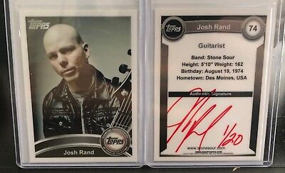 Stone Sour Josh Rand 2010 Topps trading card (red color version 1/20)