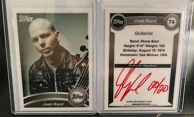 Stone Sour Josh Rand 2010 Topps trading card (red color version 20/20)