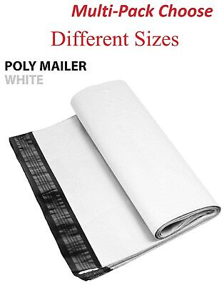 1~1000 Multi-Pack White Poly Mailers Shipping Envelopes Self Sealing Bags *