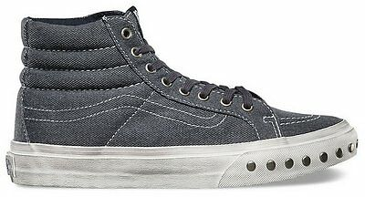 6385078f88c229 Vans Off the Wall Sk8 Hi Slim Overwashed Blue Graphite Shoes Mens 7 Womens  8.5