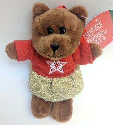 NEW Starbucks 2018 Holiday Collection Barista Bear Girl Limited Ed Ornament