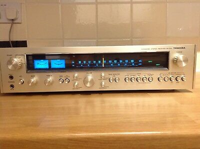Vintage Toshiba SA-514. 4 channel Stereo Receiver. hifi silver and walnut  vgc