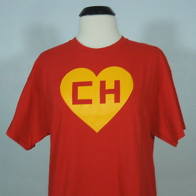EL CHAVO EL CHAPULIN Colorado T-Shirt Red Mexican Comedian Men's size L (NEW)