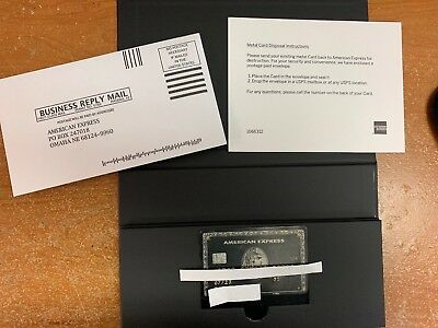 American Express Centurion Black Card Authentic - THE REAL DEAL !!