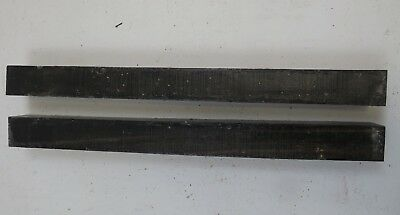 "(2) LOT OF 2,  GABOON EBONY POOL CUE, TURNING WOOD 1.5"" x 1.5"" x 18.5"" FREE SHIP"