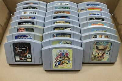 Nintendo 64 N64 Lot Of 25 Classic Games (Discounted)