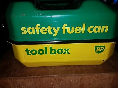 BP Safety Fuel can And  Tool Box