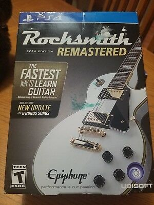 Rocksmith Remasted -- 2014 Edition (Sony PlayStation 4, 2014) w/ Real Tone Cable