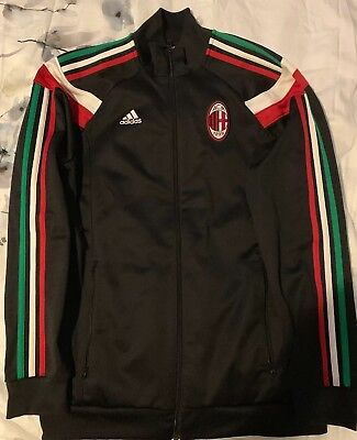 ADIDAS Climalite AC MILAN 'Rossoneri' Track Jacket Black MEDIUM