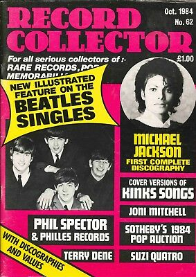 Record Collector Magazine October 1984 Beatles Michael Jackson Kinks Joni Mitche