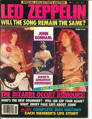 Special Collectors Edition Led Zeppelin Magazine 1981 Will Song Remain Same RARE