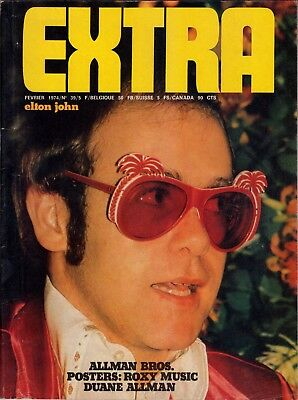 Extra Magazine February 1974 Elton John Allman Brothers Rory Gallagher New York
