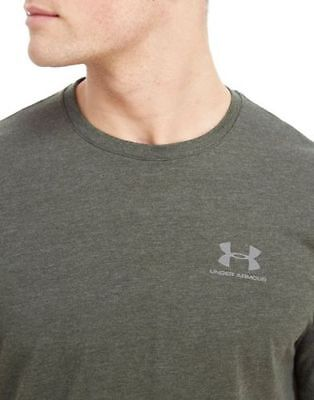 Large Under Armour 2017 UA Mens Ridge Charged Cotton Pocket T-Shirt Green