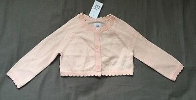 Baby Girl 3-6 Month Baby Gap Pink Scalloped Easter Button Up Cardigan