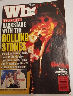 Who Weekly March 1995 Featuring Rolling Stones