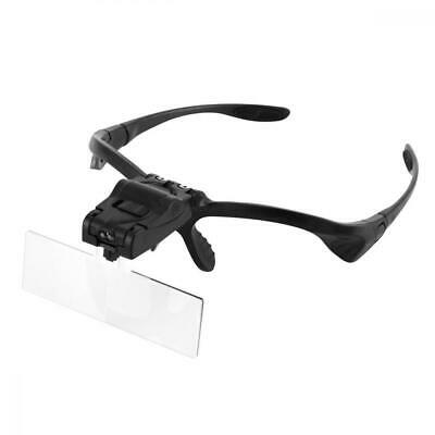 Headband Magnifier with LED Light, Handsfree Reading Glasses, Magnifying