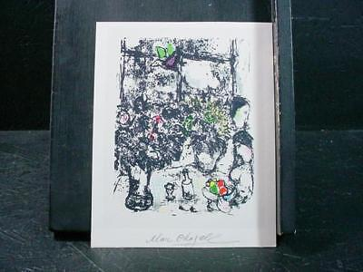 """NobleSpirit NO RESERVE {3970}Print of """"Still Life w/Bouquet"""" Signed by Chagall"""
