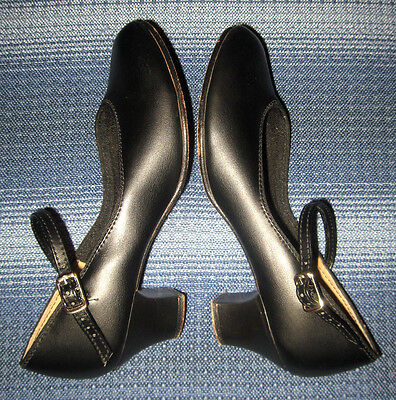 Danshuz Character Shoes, Women's Size 4.5, Leather Sole, Black Mary Jane PERFECT