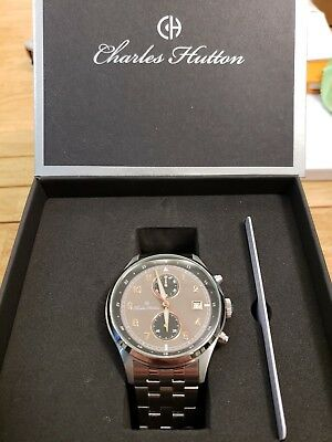 Charles Hutton Cavalier 78472-11D Chronograph - Stainless Steel - 10ATM - 44mm