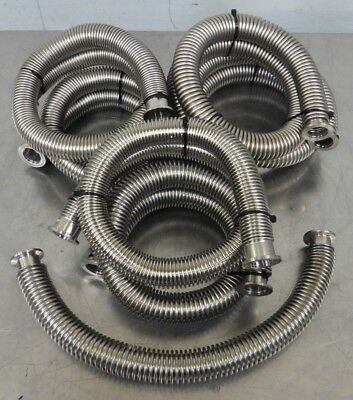 "C156536 Lot 7 Flexible Bellows Vacuum Hoses NW25 (1) 20"" (4) 34"" - 36"" (2) 40"""
