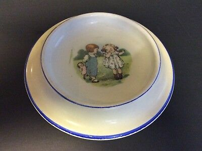 Grace Drayton DOLLY DINGLE Cleveland Pottery Baby Dish 1920's CAMPBELL KIDS