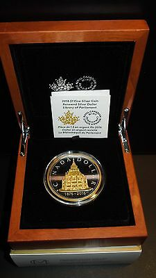 2016 Canada 50 mm BIG $1 COIN Library Parliament MASTER's Renewed Silver Dollar