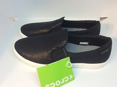 8ef975e3ab53 NEW WITH TAGS Crocs Womens Adult Tully Black   Black W11 Slip On ...