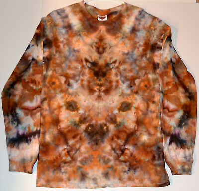 Men's/Womens Cammo Inspired Hand Dyed Long Sleeve Cotton shirt Size S/M Tie-Dye