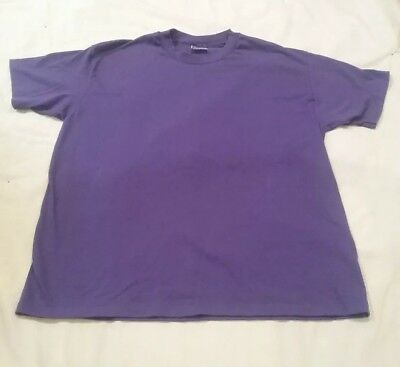 Vintage Purple Hanes Fifty Fifty T Shirt X Large Made In Usa