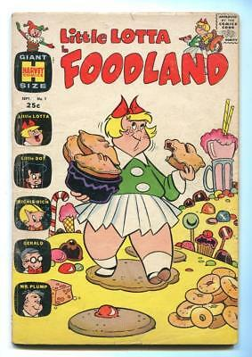Little Lotta Foodland #1 - Little Dot And Richie Rich - Scarce 1St Issue - 1963