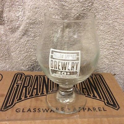 Yellow Springs Brewery Ohio Beer snifter stemmed Glass Crafting Truth To Power