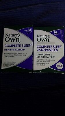 NATURE'S OWN Complete Sleep 30 Capsules with FREE complete sleep advanced 10 tab