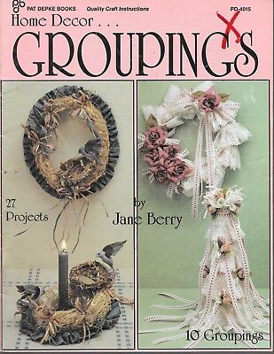 Home decor groupings vintage folk craft book country style decorating projects